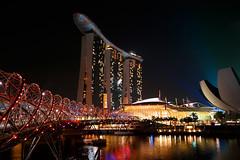 Marina bay lights (aerophonics) Tags: night singapore marinabay helixbridge marinabaysands