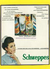 "Schweppes. ""¿Mezclada o sola Enfermera"". 1970"