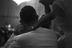 083659 12 (ndpa / s. lundeen, archivist) Tags: people blackandwhite bw woman man film monochrome 35mm bride blackwhite veil dress nick august tuxedo ballroom 1950s wristwatch gown weddingdress weddingreception 1959 unidentified formalattire dewolf bridalgown whitetuxedo nickdewolf photographbynickdewolf locationunidentified