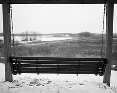 Peacefully Empty (NoahWmR12) Tags: winter white snow black cold mamiya film open bokeh wide ii f pro medium format pan 50 ilford f4 rz67 65mm