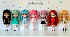 Rainbow´s Blythe  (comparison colours blythe)