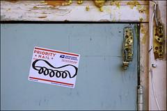 Sweet Toof (Alex Ellison) Tags: urban streetart graffiti sticker label tag teeth gums usps graff prioritymail eastlondon hackneywick mlc cwk sweettoof