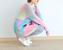 Cashmere geometric (Carolestore!) Tags: vintage cashmere diferente l colorido suter