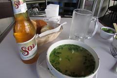(sftrajan) Tags: food beer mxico mexico lunch soup restaurant mexicocity cerveza mexique biere zonarosa mxicodf ciudaddemxico callegenova cafeventura 2014mexico