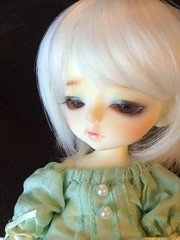 Portrait of a wolf (Out of the Orden-ary ) Tags: pink white cute yellow ball children wolf doll sad natural skin ns small bat adorable pale sleepy tired bjd fangs abjd mystic bats fang ly noa ws jointed balljointed chracter lati