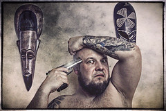 Suicidal ideations (digormc) Tags: light portrait canon licht gun suicide freak psycho 9mm suizid selbstmord pistole selbsportrait