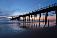Oceanside pier (Photography Peter101) Tags: ocean sunset nature clouds sunrise canon pier
