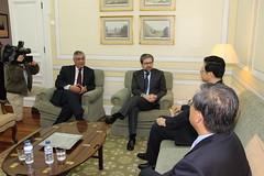 Visita do Embaixador da China à Sede Nacional