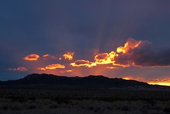 Incandescent (zoniedude1) Tags: california sunset sky mountains beauty clouds outdoors evening twilight view desert sundown adventure explore glowing remote sunrays exploration desolate incandescent mojavedesert skyshow riversidecounty glowingclouds zoniedude1 earthnaturelife canonpowershotg12