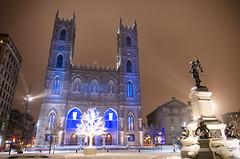 Notre Dame, Montreal(colour) (elpolodiablo) Tags: snow night pentax montreal da notre dame f28 k5 1650