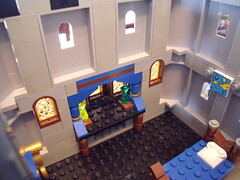 Lego Castle 05-14 Princess Room 03 (Dursaflare) Tags: castle water bed bedroom king lego princess lion prince medieval queen knights diningroom tables huge ghosts portal walls witches archery skeletons yeti bats throne dungeons genie sorceress wizards waterwell legocastle pianoorgan blueking lioncrest legocastle0514