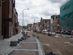 Werkzaamheden op het Boterdiep (Jeroen Hillenga) Tags: street city netherlands cityscape groningen stad straat bestrating wegwerkzaamheden boterdiep