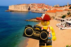 Overlooking the old city of Dubrovnik from Banje Beach (Lesgo LEGO Foto!) Tags: trip travel summer vacation holiday cute love beach swimming swim fun toy toys travels holidays lego travellers croatia traveller beaches minifig traveling collectible minifigs omg dubrovnik travelers collectable traveler hrvatska summerholiday minifigure minifigures legophotography legography flickrunitedaward collectibleminifigures collectableminifigure coolminifig benjebeach