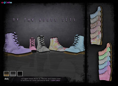 [ bubble ] My Fav Boots @ Suicide Dollz (::: insanya ::: & [ bubble ]) Tags: flowers mesh boots pastel secondlife bubble exclusive suicidedollz