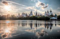 Izmailovskiy kremlin (Dmitry_Pimenov) Tags: sunset reflection sky water clouds architecture city cityscape fantastic bello citta russia moscow nature riflessione blue orthodox church