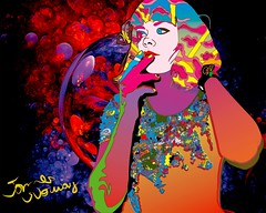 Catching Synesthesia (Ida Maria) (jamesnorwayart) Tags: trip portrait music woman art rock crazy amazing artwork arte maria awesome acid lsd drugs indie trippy psychedelic ida vector cannabis acidtrip dmt psicodlico awardtree