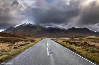 The road to the mountains.