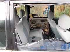 2003 PERODUA 989cc KENARI EZ FP53BXJ (Midlands Vehicle Photographer.) Tags: 2003 perodua 989cc kenari ez fp53bxj dumped abandoned broken down car unloved