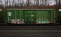 Omex/Swab (quiet-silence) Tags: graffiti graff freight fr8 train railroad railcar art omex swab sluts boxcar ibt ibt18931