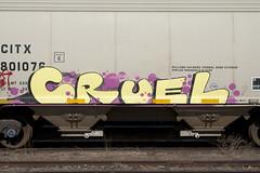 Cruel (Psychedelic Wardad) Tags: freight graffiti ipc heavymetal hm nmph cruel