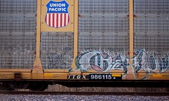 ? (Chicago City Limits) Tags: freight train graff graffiti benching rails railroad benched freights fr8s art artwork motion steel trains tracks auto racks rack autorack autoracks holy roller rollers