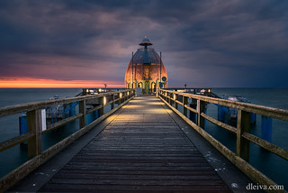 Pier at Sellin on Rugen Islan in Germany