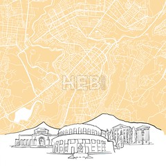 Yerevan Armenia Background Map (Hebstreits) Tags: abstract architecture armenia art background black building canvas capital card cartography cityscape clean destination europe famous footer geography greeting illustration infographic map monochrome outline panorama pen presentation print roads scalable sketch skyline streets tourism tourist travel trip urban vector view wall water ways white yerevan
