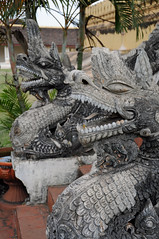 Dragon Statues at Pha That Luang (Oliver J Davis Photography (ollygringo)) Tags: city travel tourism statue architecture temple asia southeastasia dragon stupa buddhist capital buddhism laos vientiane phathatluang