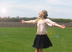 happy girl (andrea maier2013) Tags: clouds happiness sunny spinning