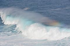 Une touche de couleurs - rainbow wave. (Ji-) Tags: sea mer france rainbow indianocean wave vague arcenciel le larunion ocanindien saintphilippe bassevalle