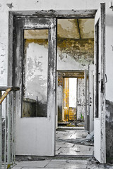 Chernobyl doors (MoraTilTordis) Tags: hotel radiation ukraine disaster second chernobyl pripyat