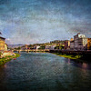 Florence in the Morning (DaraDPhotography) Tags: urban italy water buildings canal florence view ie textured sincity mrmrst artistictreasurechest magicunicornverybest lenabemannatextures pixeldustphotoart pdpavintagecraqueture backgroundmoon