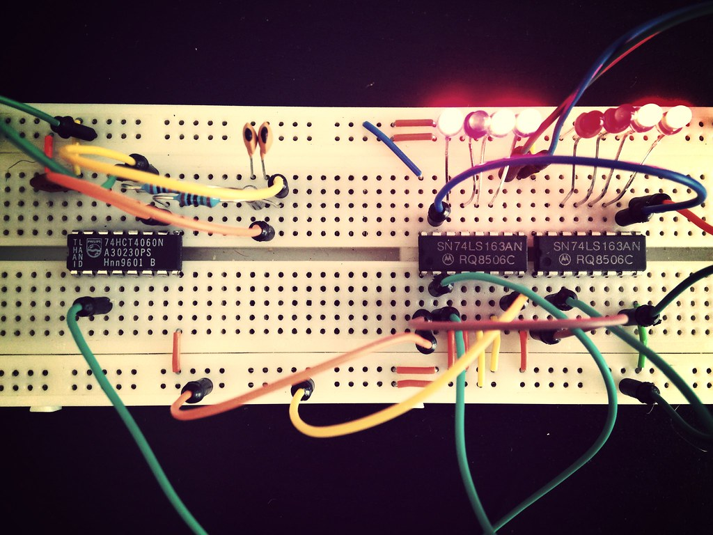 The Worlds Most Recently Posted Photos Of Binary And Counter Electronics Circuit Free Electronic Timer Circuits With 4060b Clock Project Wstryder Tags Diy Crystal Led Breadboard