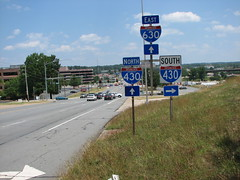 430/630 (US 71) Tags: highways arkansas roadsigns highwaysigns i430 i630 interstate430 interstate630