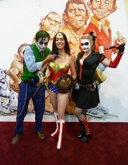 Wonder Woman with Joker & Harley at SDCC 2013 (Cutterin) Tags: woman wonder dc san comic cosplay diego wonderwoman joker comiccon con harleyquinn sdcc 2013 dalemortonstudio sdcc2013 sandiegocomiccon2013 cutterin