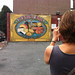 Jessica photographs a mural