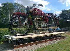 Photo0025 (wiltshire jock) Tags: sculpture art bike big motorbike scaffold biker calne