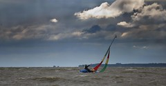 Lone sailor (Pe_Wu) Tags: water boat sailing wind yacht poland sail sailor gust zalew wilany