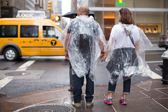 Poncho Buddies (Adrian Cabrero (Mustagrapho)) Tags: nyc newyorkcity streetshots streetphotography tourists gothamist nycstreet curbed ponchos streetphotos newyorkcitystreet nycsummer newyorkcitypeople newyorkcitysummer adriancabrero curbedny adriancabreronyc mustagrapho mustagraphophotography adriancabrerophotography mustagraphonyc
