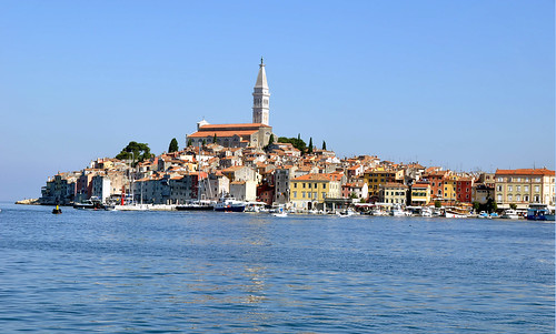 A view of the old town of Rovinj, Croatia