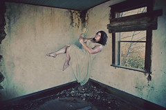 """""""consumed"""" (Teri Hofford Photography) Tags: house reflection abandoned nature mirror narcissism decay vanity levitation relationship levitate"""