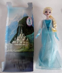 Elsa Singing 16'' Doll - Frozen - US Disney Store Purchase - First Look - Deboxing - Attached to Spacer - Next to Backing - Full Front View (drj1828) Tags: frozen us doll singing release glowing purchase elsa disneystore firstlook snowqueen posable 16inch deboxing 2013 productinformation