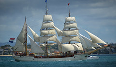 Tall Ships (Peter Jennings 16.9 Million+ views) Tags: new museum fire sailing ship harbour yacht spirit pirates c ships william historic steam peter auckland zealand maritime wharf nz wellington cannon sail quarter voyager tall tug jennings yachting hobson adieu floatilla wynyard waitemata amid hmnzs daldy