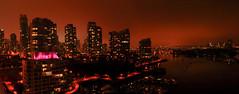 Vancouver cityscape (Surrealplaces) Tags: night vancouver creek downtown cityscape false