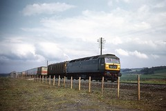 Freightliner, April 1967. (Kingfisher 24) Tags: road fence scotland fife falkland telegraphpoles freightliner class47 brushtype4