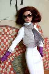 poppy (bnkiti) Tags: scarf doll crochet handknit mini tiny shawl knitted wristwarmers thelookoflove poppyparker