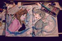 337/365. (chris.alcoran) Tags: anna art pencil canon watercolor photography frozen sigma sketchbook photoaday markers elsa copic 30mm project365 photoaday365