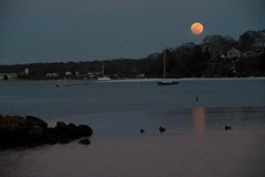 Full Moon over Lagoon (Massachusetts Office of Travel & Tourism) Tags: ocean moon ma boats island capecod massachusetts lagoon fullmoon coastal marthasvineyard