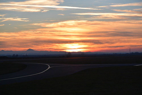 Sunset Stockerau Aerodrome