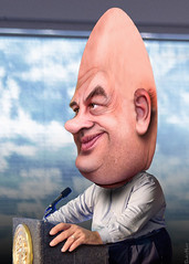 Chris Christie - Conehead (DonkeyHotey) Tags: face photomanipulation photoshop photo newjersey election political politics cartoon manipulation governor convention caricature republican campaign gop rnc commentary 2016 politicalcommentary chrischristie donkeyhotey christopherjameschristie